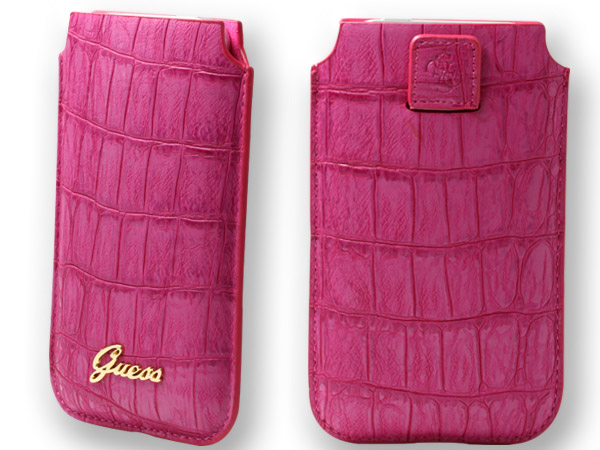 Housse Guess croco rose iPhone 6s