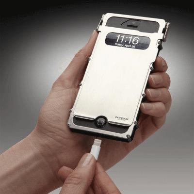 coque iphone inox case alu