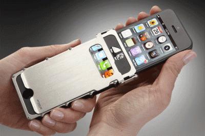 coque iphone 4 silver inox case